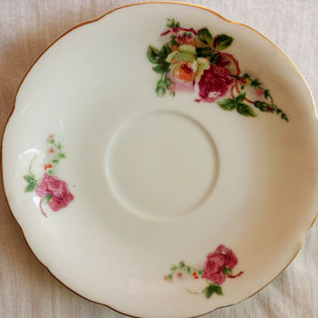 Vintage Japanese Saucer / Made In Occupied Japan / Japanese China Plate / Vintage Saucer