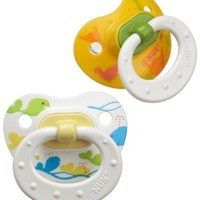 NUK Silicone Wildlife 0-6 Months; 8 Pack; Yellow, White, Pink