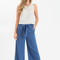 Aidan Blue Wide Leg Pants