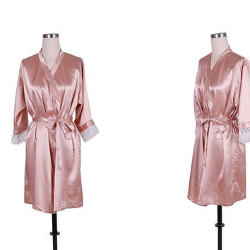RobeRobe -Set of 7 Silk Robe - Custom Kimono Robe - Bath Robe -7 set silk Bride and Bridesmaid Robes-Bride to be robes