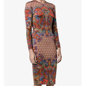 GIVENCHY | Paisley Print Long Sleeve Dress | Womenswear | Browns Fashion