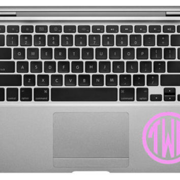 3 inch CIRCLE MONOGRAM Great for Macbooks Ipads or any hard surface