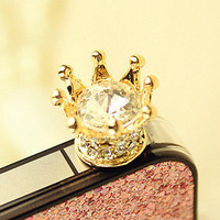 Shiny Rhinestone Anti dust Plug For Iphone 4/4s/5