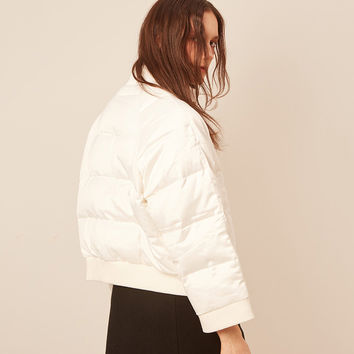 DIDDI White Puffy Jacket