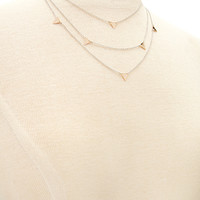 Layered Triangle Charms Necklace
