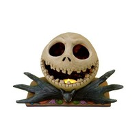 Disney Traditions designed by Jim Shore for Enesco Nightmare Before Christmas Jack Head Tealight Figurine 5.5 IN