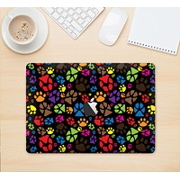 """The Colorful Scattered Paw Prints Skin Kit for the 12"""" Apple MacBook"""