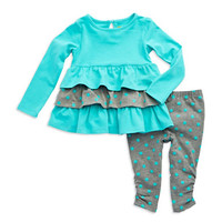 Nicole Miller Baby Girls Two-Piece Polka Dot Set
