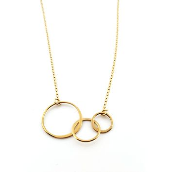 Three Circles of Life Charm - 14k Gold Filled Jewelry