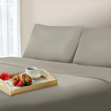Lavish Home 1000 Thread Count Cotton Sateen Sheet Set - King Platinum