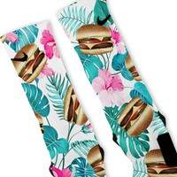 Cheeseburger Paradise  Custom Nike Elite Socks
