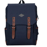 Womens Mens Fashion Canvas Backpack Daypack Travel Bag Pretty Backpack Unique School Bookbag + Free Gift Cute Elephant Ring 03