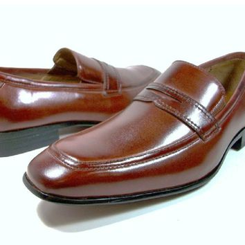 Mens Delli Aldo Slip On Penny Loafers Casual Dress Shoes 19076 Brown-195