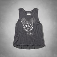 Mickey Mouse shine graphic muscle tank