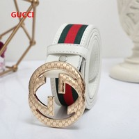 Best Online Sale GUCCI White / Gold Belt #5