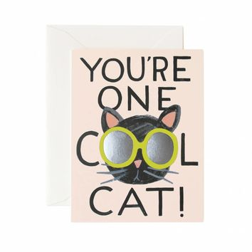 Cool Cat Greeting Card by RIFLE PAPER Co. | Made in USA