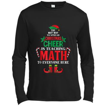 Christmas Cheer Is Teaching Math To Everyone Here Elf  Long Sleeve Moisture Absorbing Shirt
