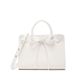 Mansur Gavriel Mini Sun Bag in White Tumble | FWRD