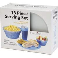 13 Piece Dorm Eating Set - Essential For College Students & Kitchen Cooking