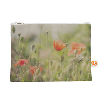 "Laura Evans ""Fields of Remembrance"" Green Orange Everything Bag"