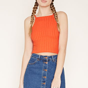 Ribbed Knit Cropped Cami | Forever 21 - 2000170673