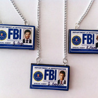 Supernatural FBI Badge Necklaces