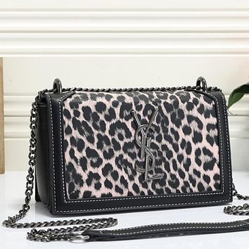 YSL Yves Saint laurent Women Fashion Leopard Crossbody Satchel