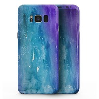 Blue 823 Absorbed Watercolor Texture - Samsung Galaxy S8 Full-Body Skin Kit
