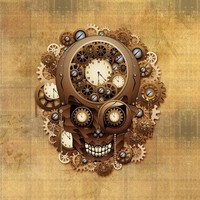 Steampunk Skull Vintage Style by BluedarkArt on Crated