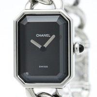 CHANEL Premiere SS Quartz Black dial H0452 Used Very good Wristwatch D17