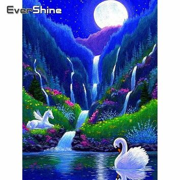 5D Diamond Painting Pegasus Falls Kit