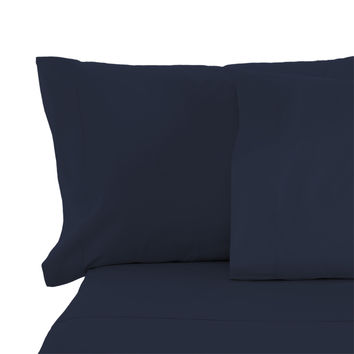 Cypress Linen Collection 1800 Series 6 Piece Navy Premium Sheet Sets