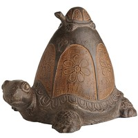 Terracotta Turtle with Baby