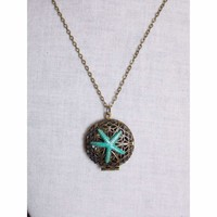 Starfish  Beachy Locket Necklace