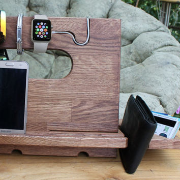 Phone accessories iPhone holder iPhone stand iWatch docking station wood Apple watch iPhone dock Wood Docking station iPad dock Tablet stand