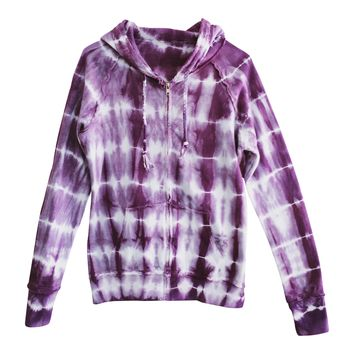 Hooded Sweatshirt, Purple Tie-Dye