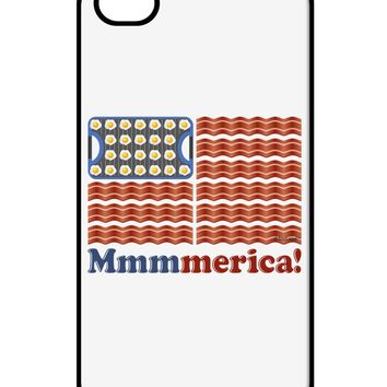 American Breakfast Flag - Bacon and Eggs - Mmmmerica iPhone 4 / 4S Case  by TooLoud