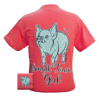 Bjaxx Lilly Paige Small Town Girl Quatrefoil Pig Girlie Bright T Shirt