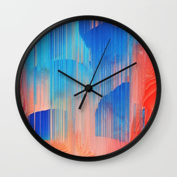 Hot n' Cold Wall Clock by Ducky B