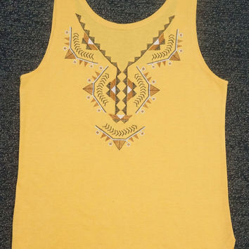 Ginger Tribal Print Tank Top