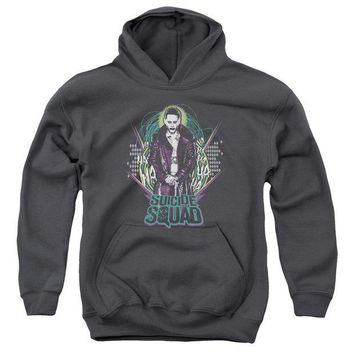 ac NOOW2 Suicide Squad - Suicide Joker Youth Pull Over Hoodie