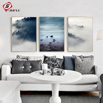 Landscape Poster Scandinavian Canvas Painting Wall Picture For Living Room Nordic Art Print Home Decor 3 Piece No Frame