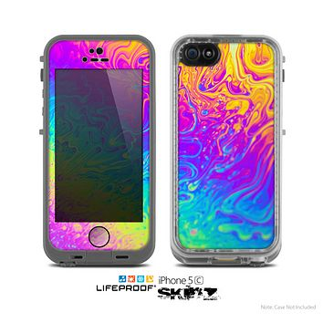 The Neon Color Fushion V2 Skin for the Apple iPhone 5c LifeProof Case