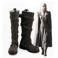 Game of Thrones season 7 Cosplay shoes Dragon Mother Dany Anime boots Custom-made