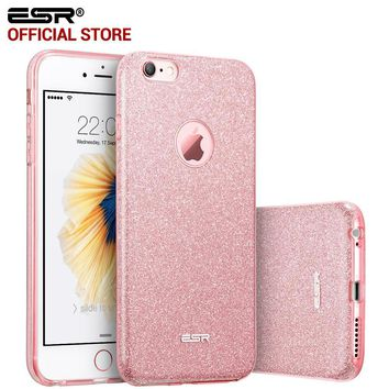 Case for iphone 6s/6Plus, ESR Hybrid three layer Soft TPU 3in1 Light Weight Girl Fashion Shining Cover Case for iPhone6/6s Plus