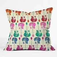 Sharon Turner Candy Rock Throw Pillow