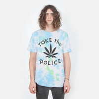 Toke the Police tie dye T-shirt UNISEX sizes S-XL