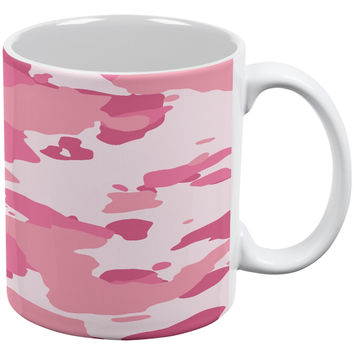 Pink Camo White All Over Coffee Mug