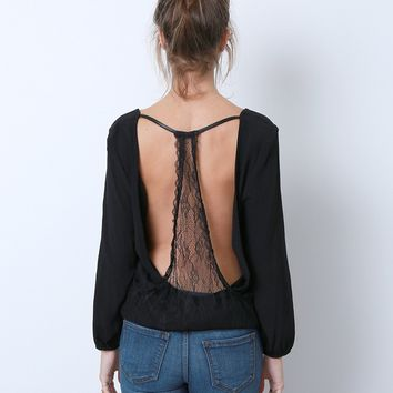 Inner Beauty Top - Black Lace