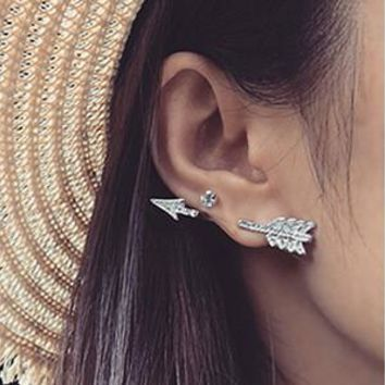 Strong Character Korean Couple Love Earrings [11192813012]